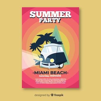 Summer party plakat szablon