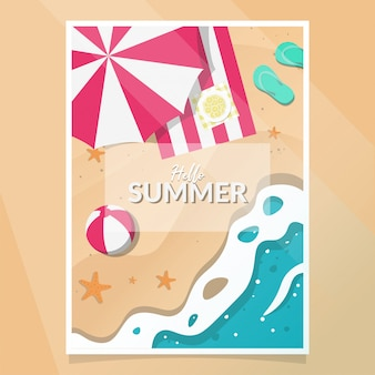 Summer party plakat wektor