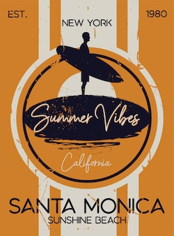 Summer surf session santa monica