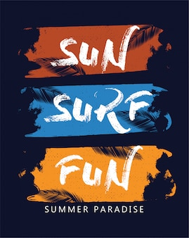Sun surf fun summer paradise