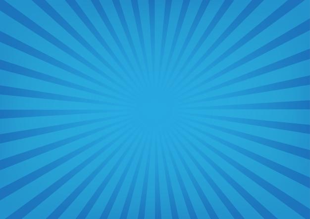 Sunburst Na Błękitnym Koloru Tle Premium Wektorów