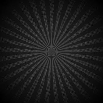 Sunburst retro błyszczący czarny tło
