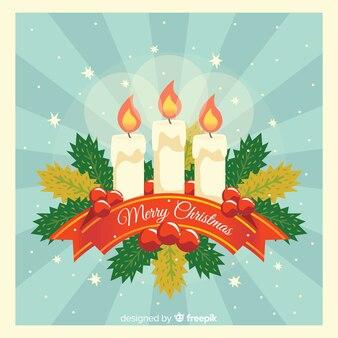 Sunburst świeczki bożych narodzeń tło