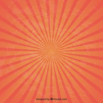 Sunburst w czerwonych i pomarańczowych kolorach