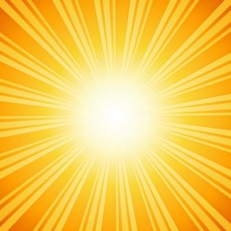 Sunburst w tle