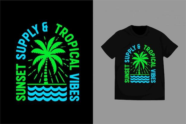 Sunset_supply - typografia do koszulki z nadrukiem premium