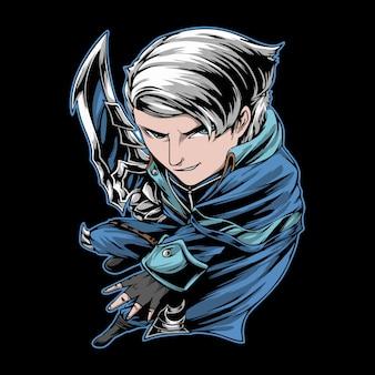 Super bohater postać z kreskówki