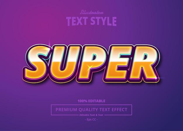 Super efekt tekstowy ilustratora