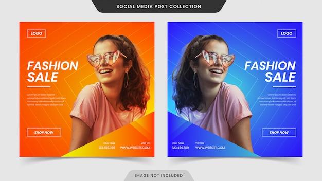 Super ekskluzywna mega sprzedaż mody w mediach społecznościowych i kolekcja banerów internetowych.