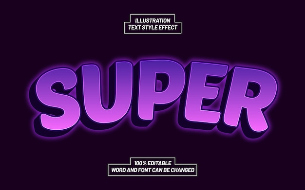 Super fioletowy efekt stylu tekstu