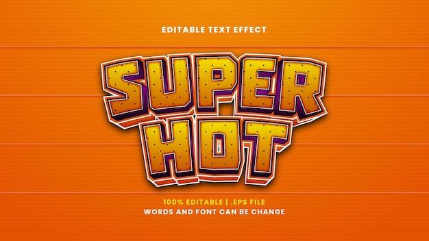 Super gorący edytowalny efekt tekstowy w nowoczesnym stylu 3d
