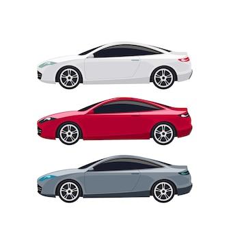Super nowoczesne samochody sportowe ilustracji wektorowych