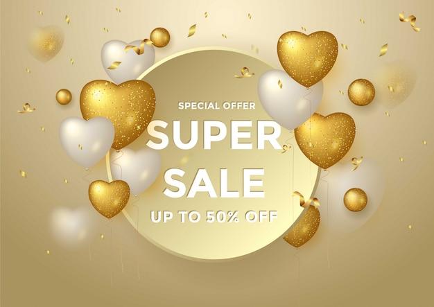 Super oferta specjalna oferta złota kompozycja