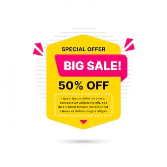 Super oferta sprzedaży szablon transparent, oferta specjalna duża sprzedaż. banner oferty specjalnej na koniec sezonu. abstrakcyjny element graficzny promocji.