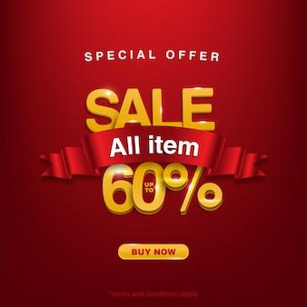 Super promocja, oferta specjalna wyprzedaż wszystkie przedmioty do 60%