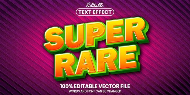 Super rzadki tekst, edytowalny efekt tekstu w stylu czcionki