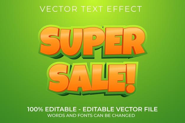 Super sprzedaż 3d edytowalny efekt tekstowy