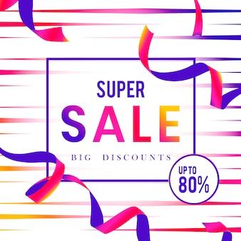 Super sprzedaż 80% zniżki na wektor znak