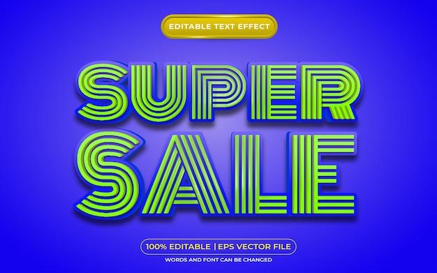 Super sprzedaż edytowalny styl szablonu efektu tekstowego