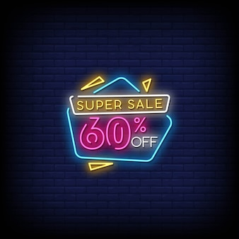 Super sprzedaż neony w stylu tekstu
