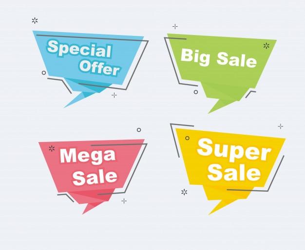 Super sprzedaż promocyjna rabat zestaw banery
