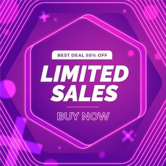 Super sprzedaż streszczenie fioletowe tło