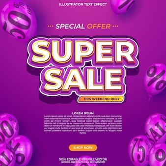 Super szablon banera sprzedaży