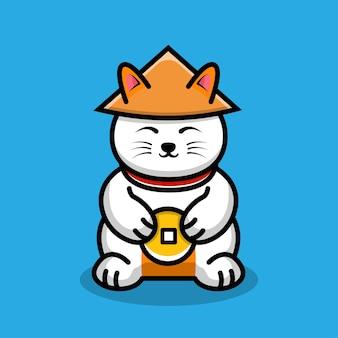 Super szczęśliwy kot