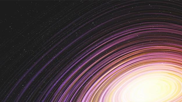 Super tunel czasoprzestrzenny na tle galaktyki ze spiralą drogi mlecznej