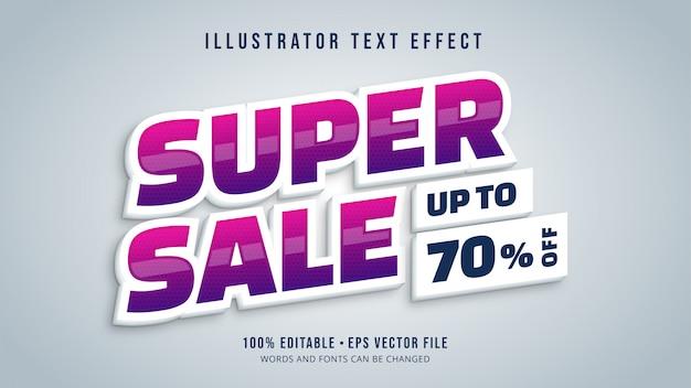Super wyprzedaż edytowalny efekt tekstowy