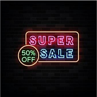 Super Wyprzedaż Neonów Premium Wektorów