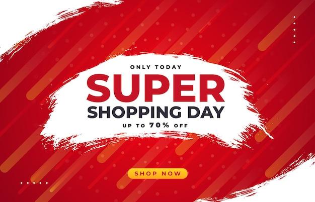 Super wyprzedaż z pędzlem na dzień zakupów