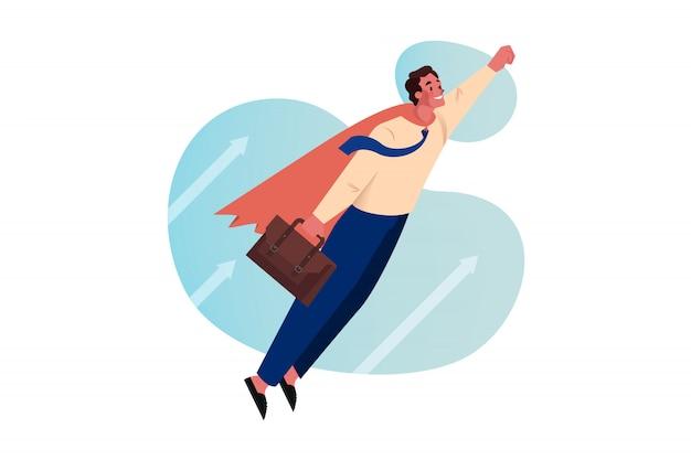 Superbohater, cel, motywacja, start-up, przywództwo, koncepcja biznesowa.