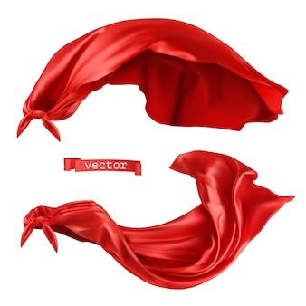 Superbohater, realistyczna ilustracja czerwona peleryna