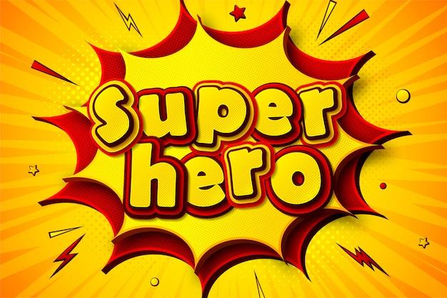 Superbohater. tło kreskówkowych komiksów