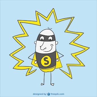Superhero cartoon wektor