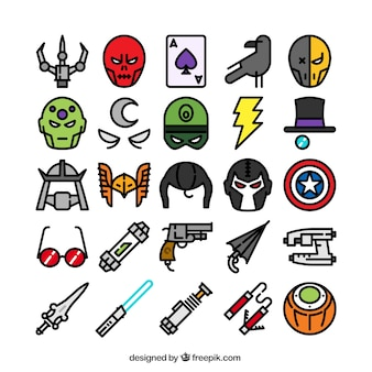 Superhero ikony kolekcji