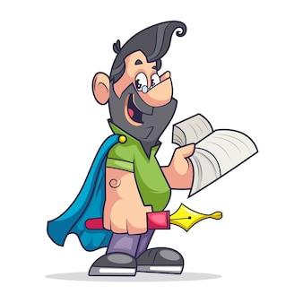 Superman nerdy professor / student / man