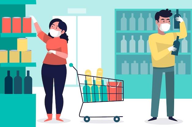 Supermarket koronawirusowy