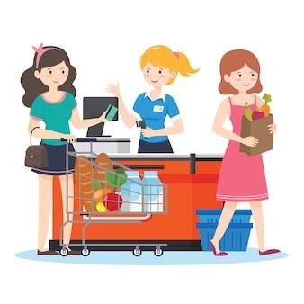 Supermarket na zakupy