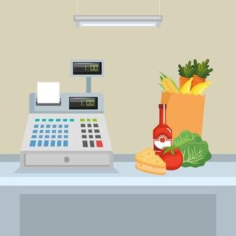Supermarkety z automatem rejestrującym