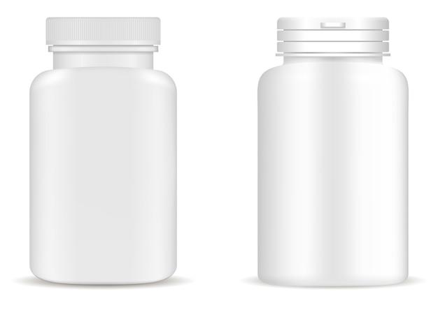 Suplement butelka pigułka butelka medycyna słoik