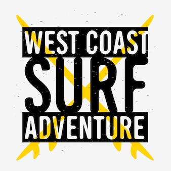 Surfing surf znak etykieta do promocji reklamy koszulka lub naklejka plakat ulotka projekt obraz.
