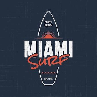 Surfing w miami na florydzie.