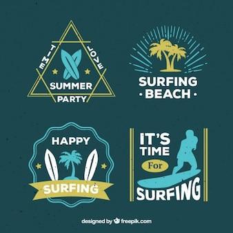 Surfowanie etykiety plażowe