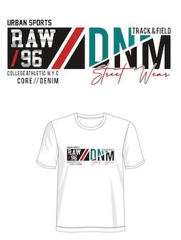 Surowa 96 typografia do druku t-shirt