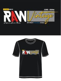 Surowa vintage typografia do druku t shirt