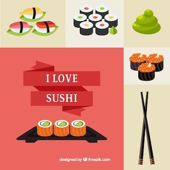 Sushi w tle