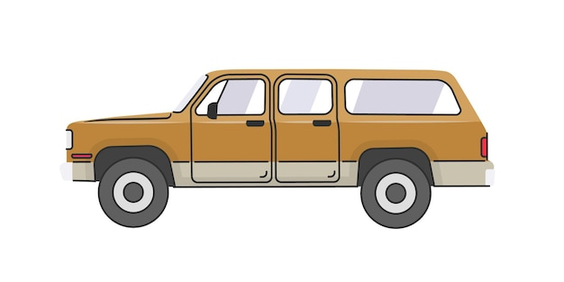 Suv widok z boku samochód z napędem na cztery koła