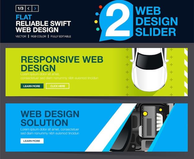Suwaki internetowe lub banery projektowe koncepcje dla twojej witryny.